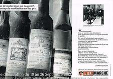 PUBLICITE ADVERTISING 025  1992  INTERMARCHE  la foire aux vins ( 2p)