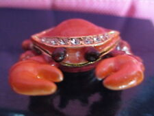 Ruby The Red Crab ~ Jeweled & Enamel Trinket Box ~ Boutique Miniature 61147