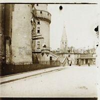Langeais Francia Placca Da Lente Stereo Positivo Vintage 1907