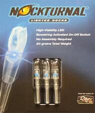 Nockturnal S Blue 3 Pack Lighted Nocks