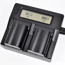 Quick LCD Charger +2x Battery for Olympus PS BLM1 EVOLT E-300 E-330 E-500 E-510
