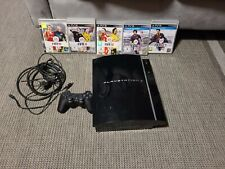 Sony Ps3 Playstation 3 Konsole schwarz Fat Lady 250GB+ Controller + 5 Spiele