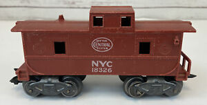 Marx 18326 O Scale NYC New York Central Caboose Brown Train Car Vintage