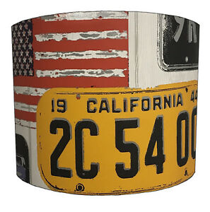Lampshades Ideal To Match American Car Plate Wallpaper American Car Plate Duvets