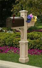 Mayne 5830C Westbrook Plus Mailbox Post- Clay