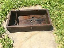 Antique Primitive Wood Dovetailed Chest Unique Display Case