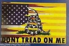 10 Yellow American Flag 3x5 Gadsden Dont Tread On Me Vinyl Decal Sticker 2nd