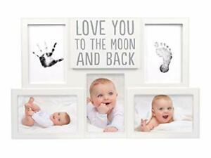 Pearhead Love You to The Moon & Back Babyprints Photo Collage Frame Baby Show...