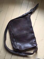 Men's Leather Messenger Laptop Computor Bag W/Adjustible Strap