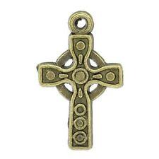 Bronze Modeschmuck-Anhänger Kreuz-Motiv