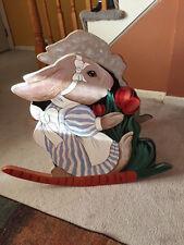 Fabulously whimsical Bunny CHILD ROCKING CHAIR  Handmade Toddler Wood Rocker