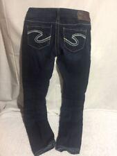 Silver Aiko Skinny Jeans Women's Size 24X32 Actual 26X28