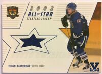 2002-03 BAP Memorabilia All-Star Starting Lineup Jersey Vincent Damphousse Vault