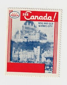 See CANADA -New & Old Quebec City, poster stamp MUH