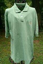 Vintage 90's Green Bugle Boy Shirt Mens L Crest Collared Polo Rugby Golf