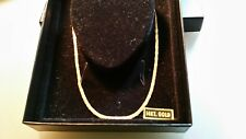 14k Solid Yellow Gold Braided Herringbone Necklace * Chain * Italy * Not Scrap