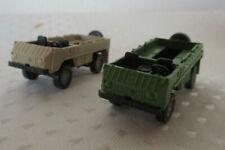 Modellbau H0, Roco, 2 Pinzgauer Geländewagen ohne Dach + Windschutzscheiben