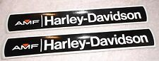 "Pair Vintage AMF Harley Davidson Gas Tank Decals 1970's 61142-74 Original NOS 9"""