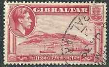 Gibralter Stamps 109a SG 123a 1½ pCarmine pf 13½  Used VF 1938 SCV $30.00