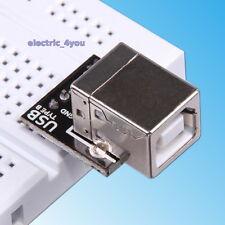 USB Type B Port Prise PCB Board 2,54mm Arduino Breadboard Conseil Shield
