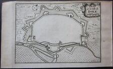 1708 PLAN DOLE map Sanson Jaillot Mortier Jura Bourgogne-Franche-Comté France