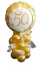 Golden 50th mariage foil balloon décoration kit, anniversaire, pour air remplissage