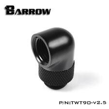 "Barrow G1/4"" Matte Black 90 Degree Rotary Adapter Hard Rigid Tubing Fitting"