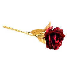 24K Gold Foil Plated Rose Romantic Valentine's Day Gift Golden Rose Flower