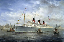 RMS Queen of Bermuda Furness Bermuda Line Ocean Liner Marine Painting Art Print