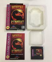 Mortal Kombat Sega Game Gear CIB Complete