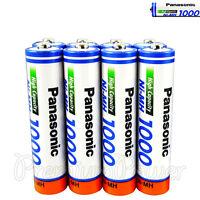 8 x Panasonic AAA batteries Ni-MH 1000 930 mAh Rechargeable High capacity HR03