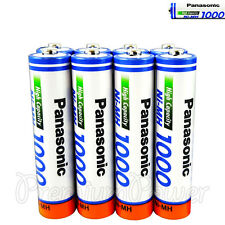 8 x Panasonic AAA batteries Ni-MH 1000 930 mAh Rechargeable High capacity HR03