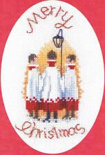 Derwentwater Designs Christmas Cross Stitch Card Kit - Carol Singers