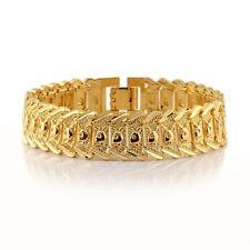 "Men's Bracelet Watch Chain 18k Yellow Gold Filled 8"" Link Fashion Jewelry"