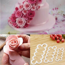 Wholesale 3x Rose Flower Fondant Cake Chocolate Sugarcraft Mould Mold Decor Tool