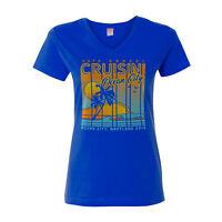 2018 Cruisin Ocean City official car show t-shirt women royal blue v-neck