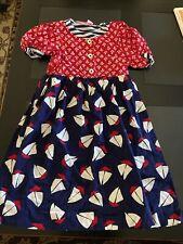 Chocolate Soup Girls Dress Size 12 Sailboats Nautical Short Sleeve