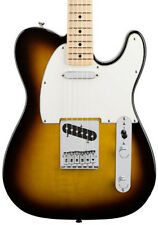 Fender Standard Telecaster Electric Guitar, Brown Sunburst, Maple Neck (NEW)