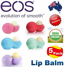 EOS Lip Balm 5 Pack Smooth Sphere 100% Natural 95% Organic 100% Authentic