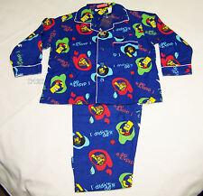 The Simpsons Bart Boys I Didnt Do It Blue Flannel Pyjama Set Size 6 New