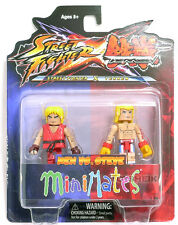 Street Fighter vs Tekken Minimates Ken vs Steve figure Diamond 100301