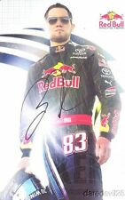 2009 Brian Vickers signed Red Bull Racing Toyota Camry NASCAR postcard