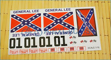 GENERAL LEE DUKE OF HAZZARD 1/16 Scale Decals Stickers Cut Kit RC Car Tamiya HPI