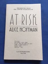 AT RISK - UNCORRECTED PROOF BY ALICE HOFFMAN