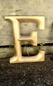 Vintage Large Gothic Gold Advertising Letter 'E'
