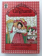 NEW VTG GINGHAMS PAPER DOLL & PLAY SET CARRIE'S BOUTIQUE USA NOS OPENED VINTAGE