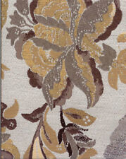 Drapery Upholstery Fabric Woven Jacquard Lg. Scale Flowers & Leaves - Gray Multi