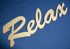 Große Holz Buchstaben Relax 61 cm Schriftzug Wandtattoo Spruch Deko Schrift