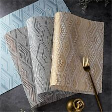 Durable Coasters Kitchen Tablecloth Mat Waterproof Non-slip Placemats Dining Pad