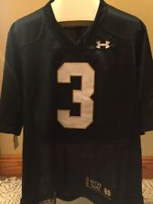NWT Under Armour Notre Dame Premier Football Jersey Blue Sz. L